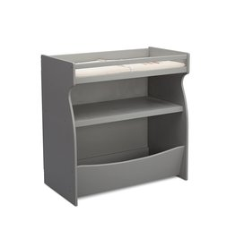 Delta Children Delta Children 2-in-1 Changing Table and Storage Unit with Changing Pad, Grey