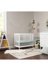 babyletto Babyletto Gelato 4-in-1 Convertible Mini Crib in White / Washed Natural, Greenguard Gold Certified