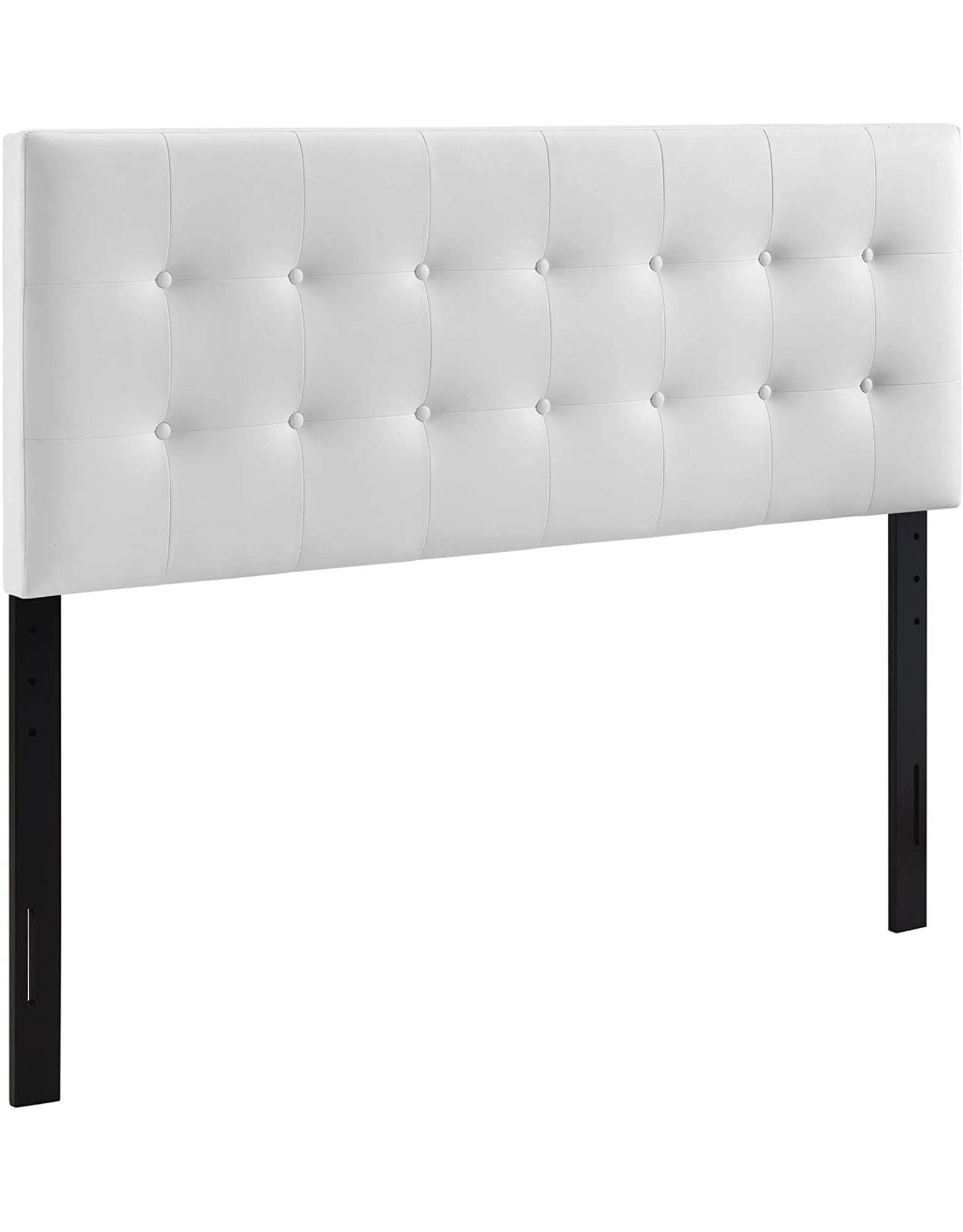 Modway Modway Emily Tufted Button Faux Leather Upholstered King Headboard in White
