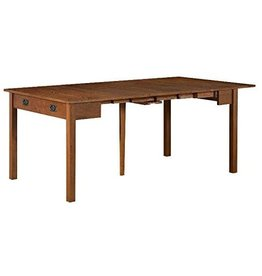 MECO Stakmore Traditional Expanding Table, Fruitwood Frame
