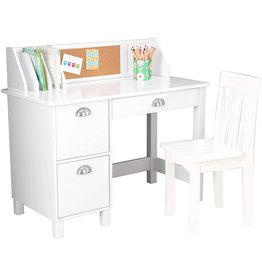 KidKraft KidKraft Kids Study Desk with Chair-White