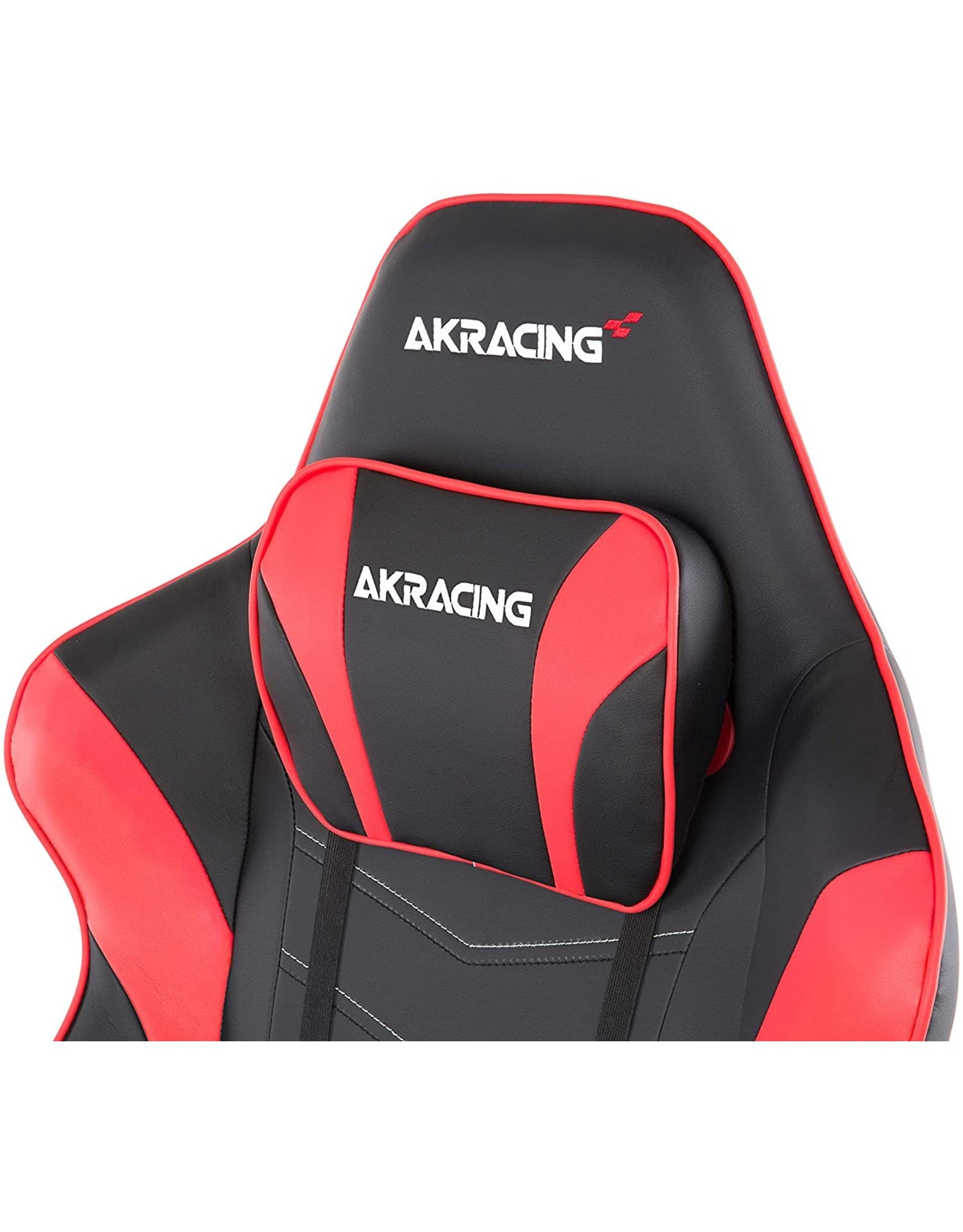 AKRacing AKRacing Masters Series Max Gaming Chair with Wide Flat Seat, 400 Lbs Weight Limit, Rocker and Seat Height Adjustment Mechanisms with 5/10  - Black/Red - PC; Mac; Linux