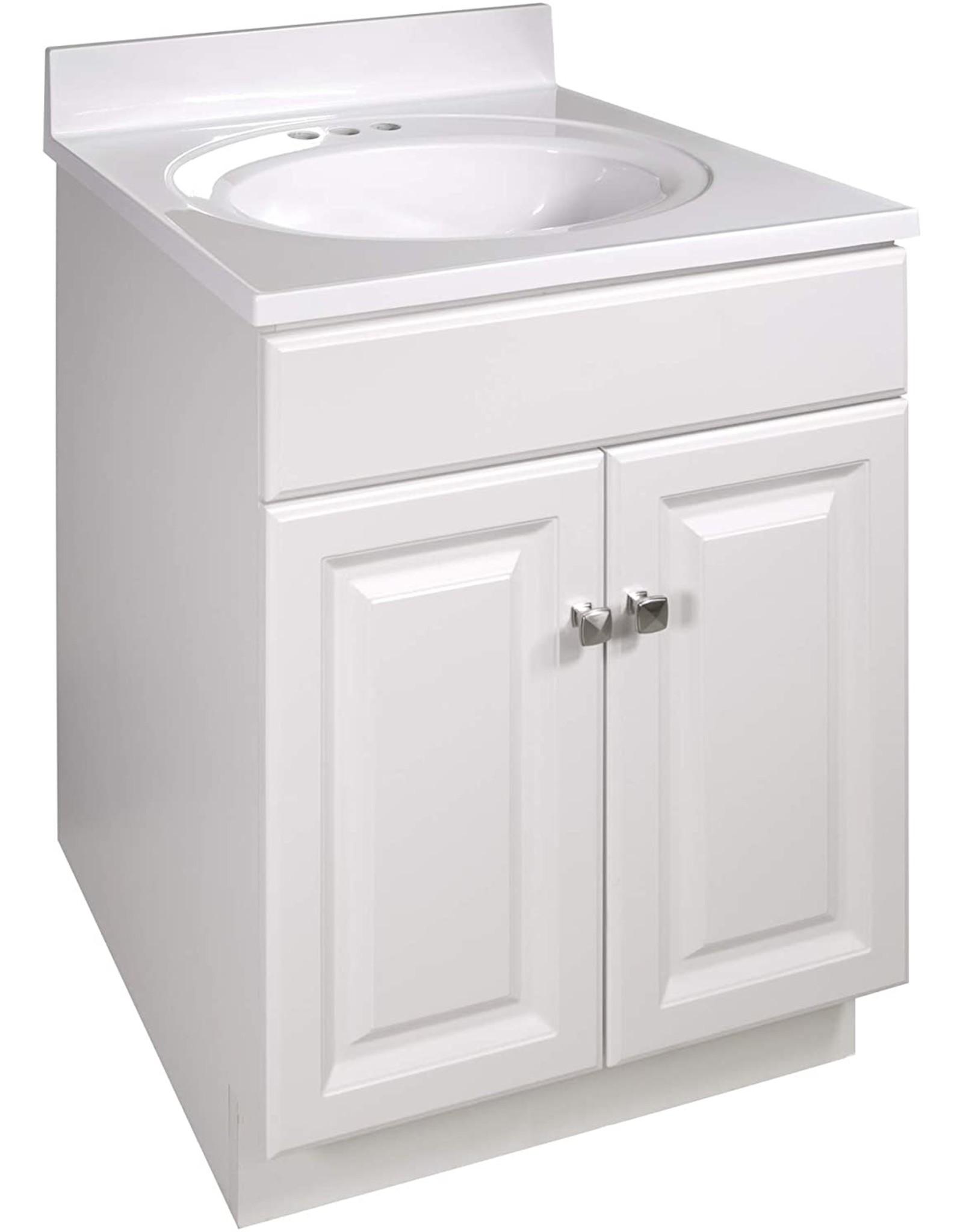 Design House Design House 586453 Wyndham 2-Door Vanity , Unassembled, 25x22, White (Cabinet Only)