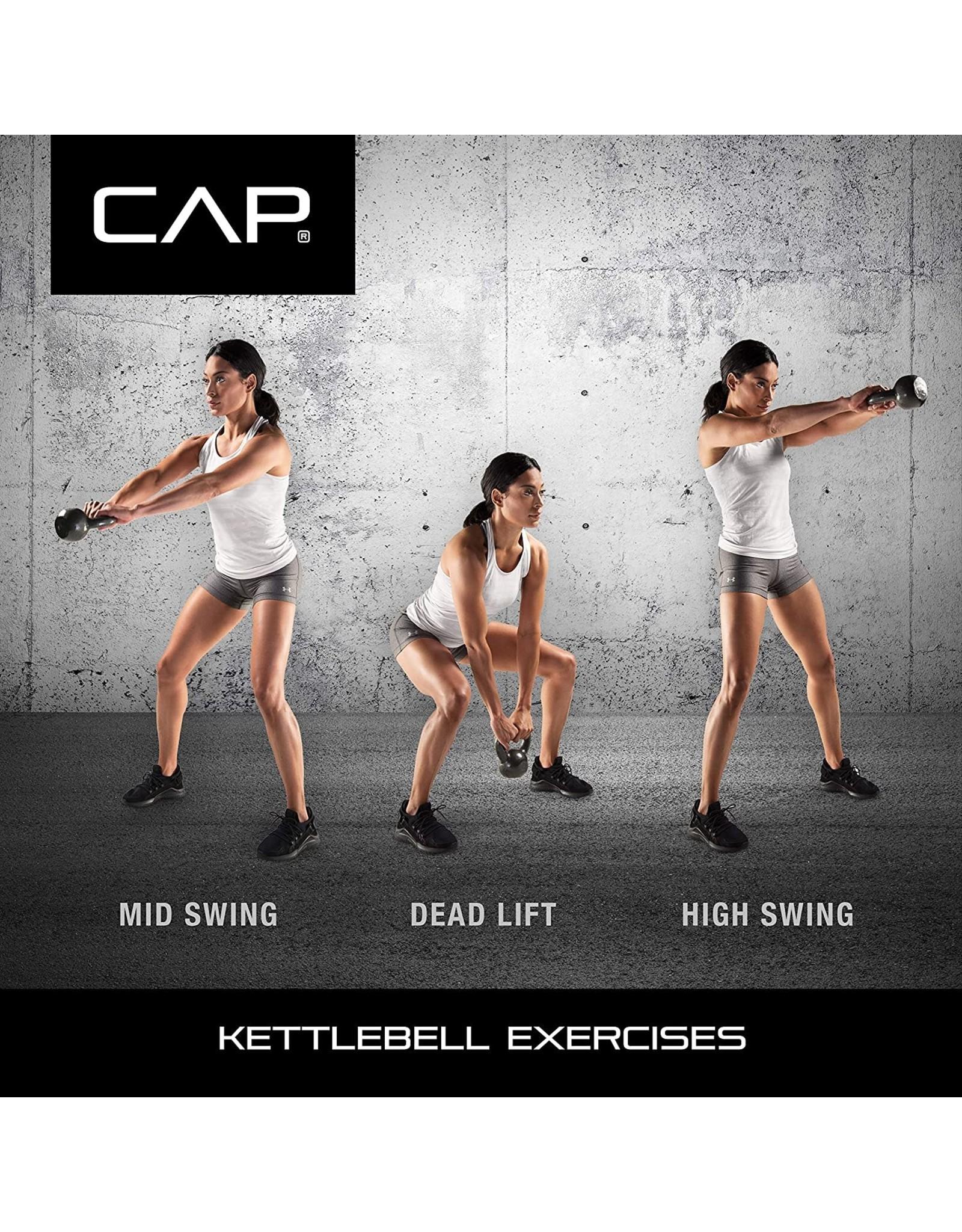 CAP Barbell CAP Barbell Cast Iron Kettlebell, 80 Pounds