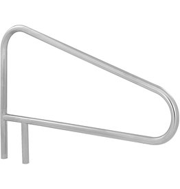 S.R. Smith S.R. Smith DMS-103A 2-Bend Deck Mounted Stainless Steel Braced Swimming Pool Handrail
