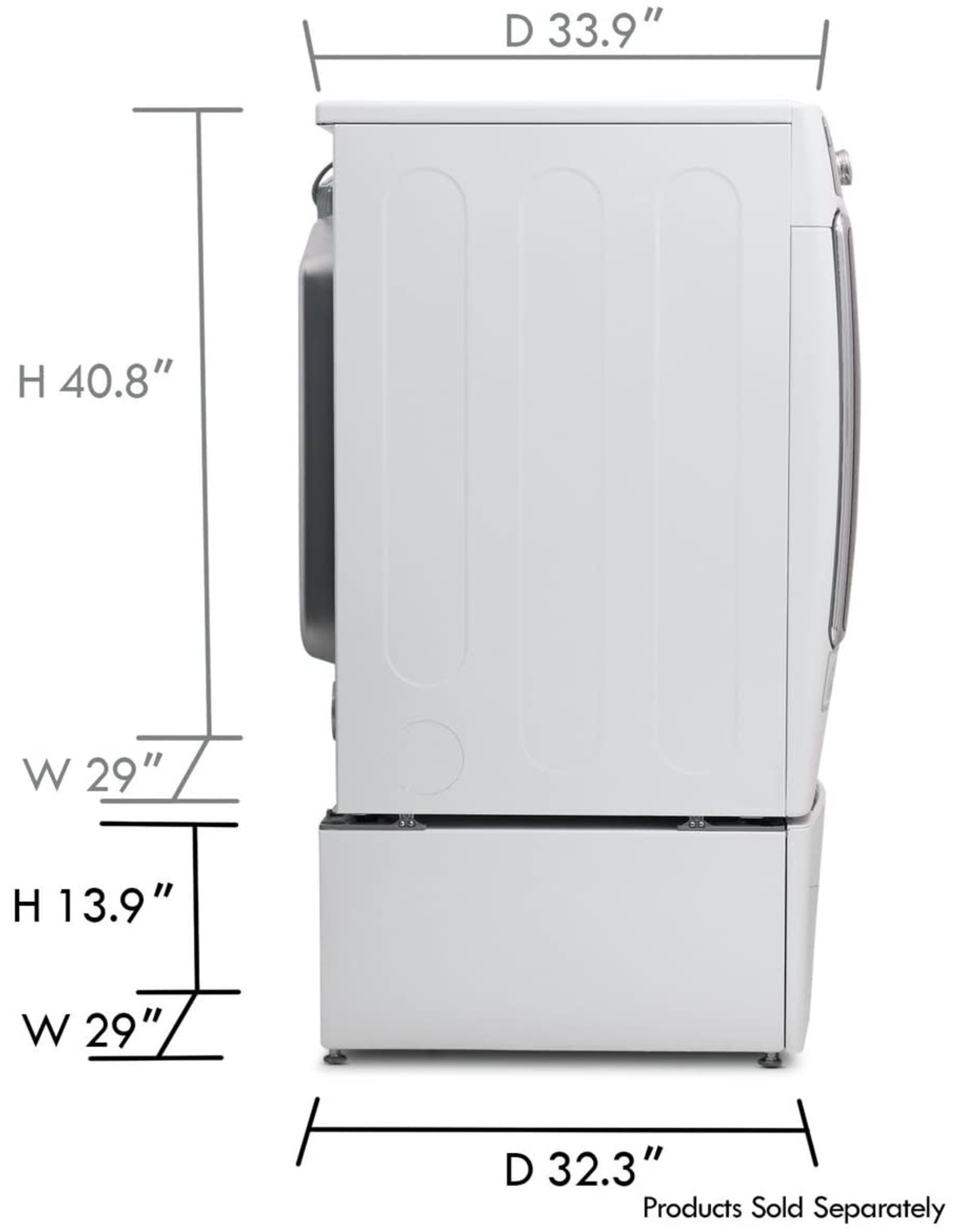 """Kenmore Kenmore Elite White 29"""" Wide Laundry Pedestal with Storage Drawer"""
