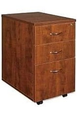 Lorell Lorell Mobile Pedestal, Box/Box/File, 16 by 22 by 28-1/4-Inch, Cherry