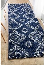 nuLOOM nuLOOM Iola Soft & Plush Shag Area Rug, 4' X 6', Blue