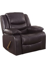 Divano Roma Furniture Divano Roma Furniture Bonded Leather Rocker Recliner Living Room Chair (Brown)