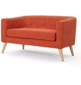 Christopher Knight Christopher Knight Home Bridie Mid-Century Modern Loveseat, Muted Orange Fabric