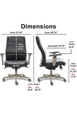 La-Z-Boy La-Z-Boy Baylor Modern Executive Office Chair, Adjustable Ergonomic Lumbar Support, Black