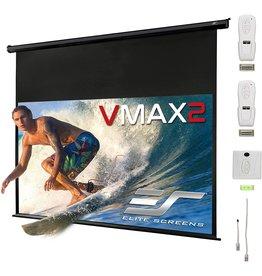 "Elite Screens Elite Screens VMAX2, 110-inch 16:9, 24"" Drop, Electric Motorized Drop Down HD Projection Projector Screen, VMAX110UWH2-E24"