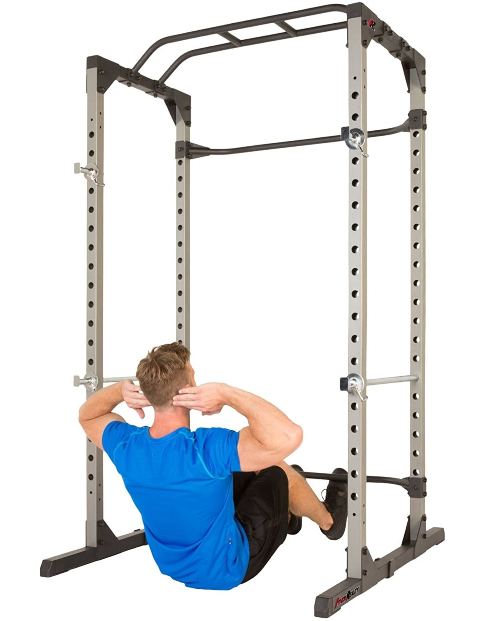 Fitness Reality Fitness Reality 810XLT Super Max Power Cage  Optional Lat Pull-down Attachment and Adjustable Leg Hold-down  Power Cage Only