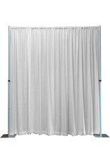 OnlineEEI Adjustable Height Backdrop Kit- 7 to 12ft High x 7 to 12ft Wide, White Premier Drape Included
