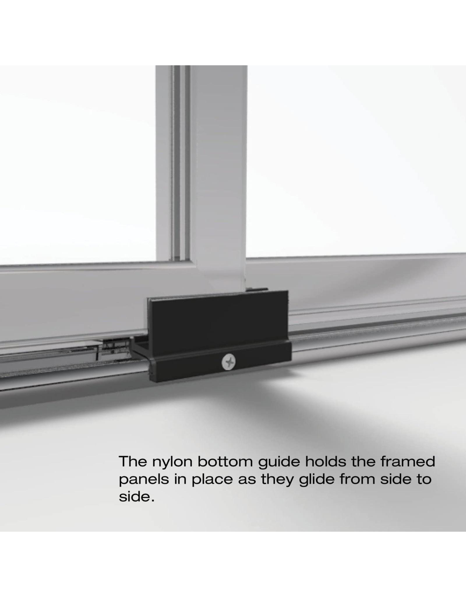 Basco Shower Door Basco Deluxe Framed Sliding Shower Door, Fits 45-47 inch opening, Clear Glass, Silver Finish