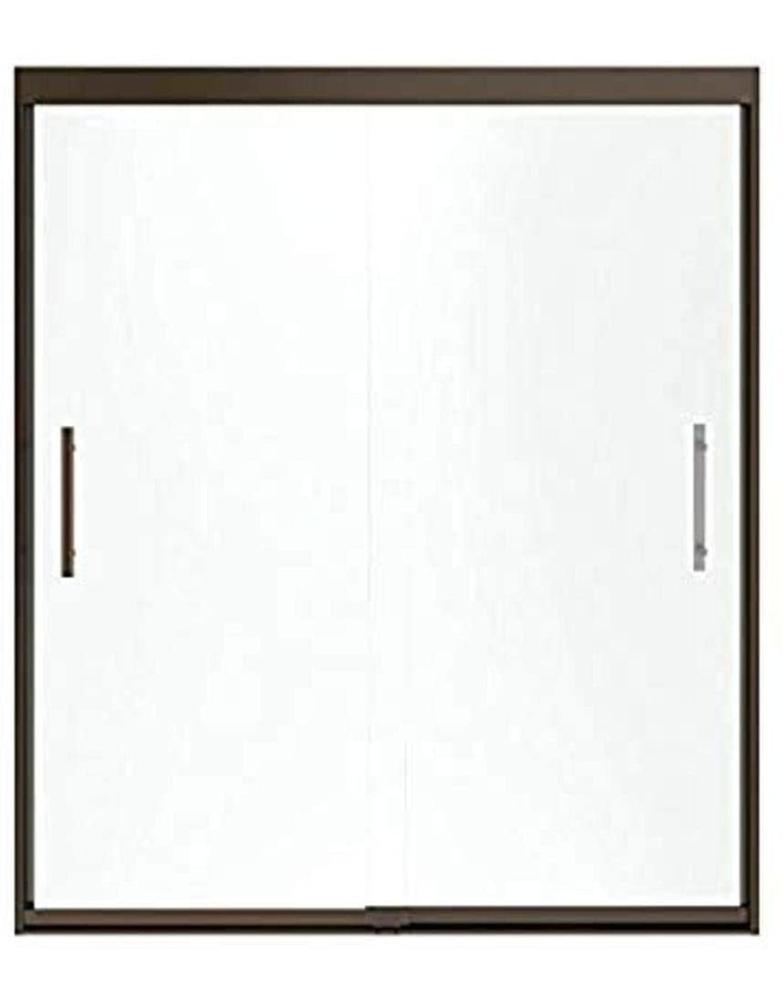 Sterling Plumbing Sterling Plumbing 547808-48N-G03 Finesse 44.6 To 47.6-In X 70.1-In Frameless Sliding Alcove Shower Door With Frosted Glass, 0.31-in L x 44.6-47.6-in W H, Brushed Nickel