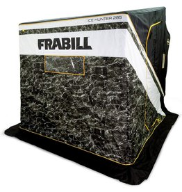 Frabill Frabill Ice Hunter Sidestep 285  Insulated Ice Fishing Flip Over Shelter with Boat Seats, Mossy Oak Elements Blacktip, 28.5 Sq. Ft (FRBSH285)