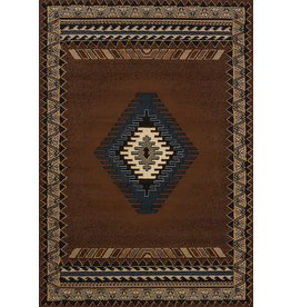 """United Weavers of America United Weavers of America Tucson Manhattan Rug Collection, 7' 10"""" by 10' 6"""", Brown"""
