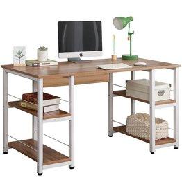 soges Soges Home Office Desk 55 inches Computer Desk,Storage Desk Morden Style with Open Shelves Worksation, Oak DZ012-140-OK