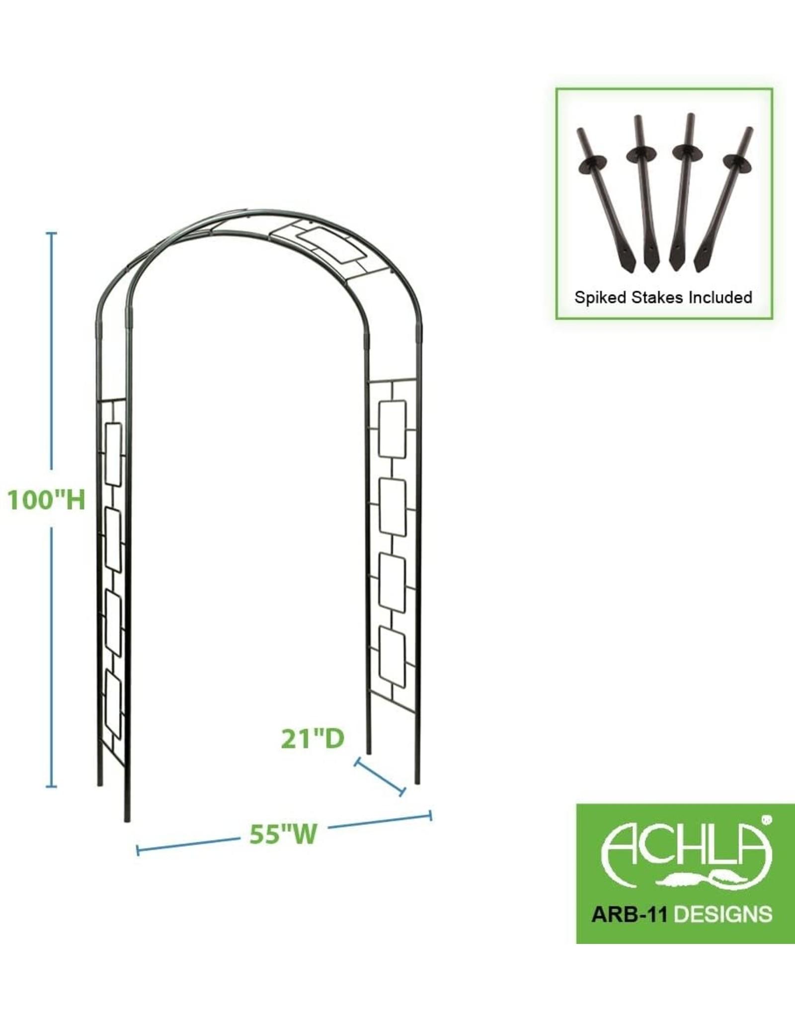 Achla Achla Designs ARB-11 Modern Metal Arbor Arch,Garden Décor, Graphite