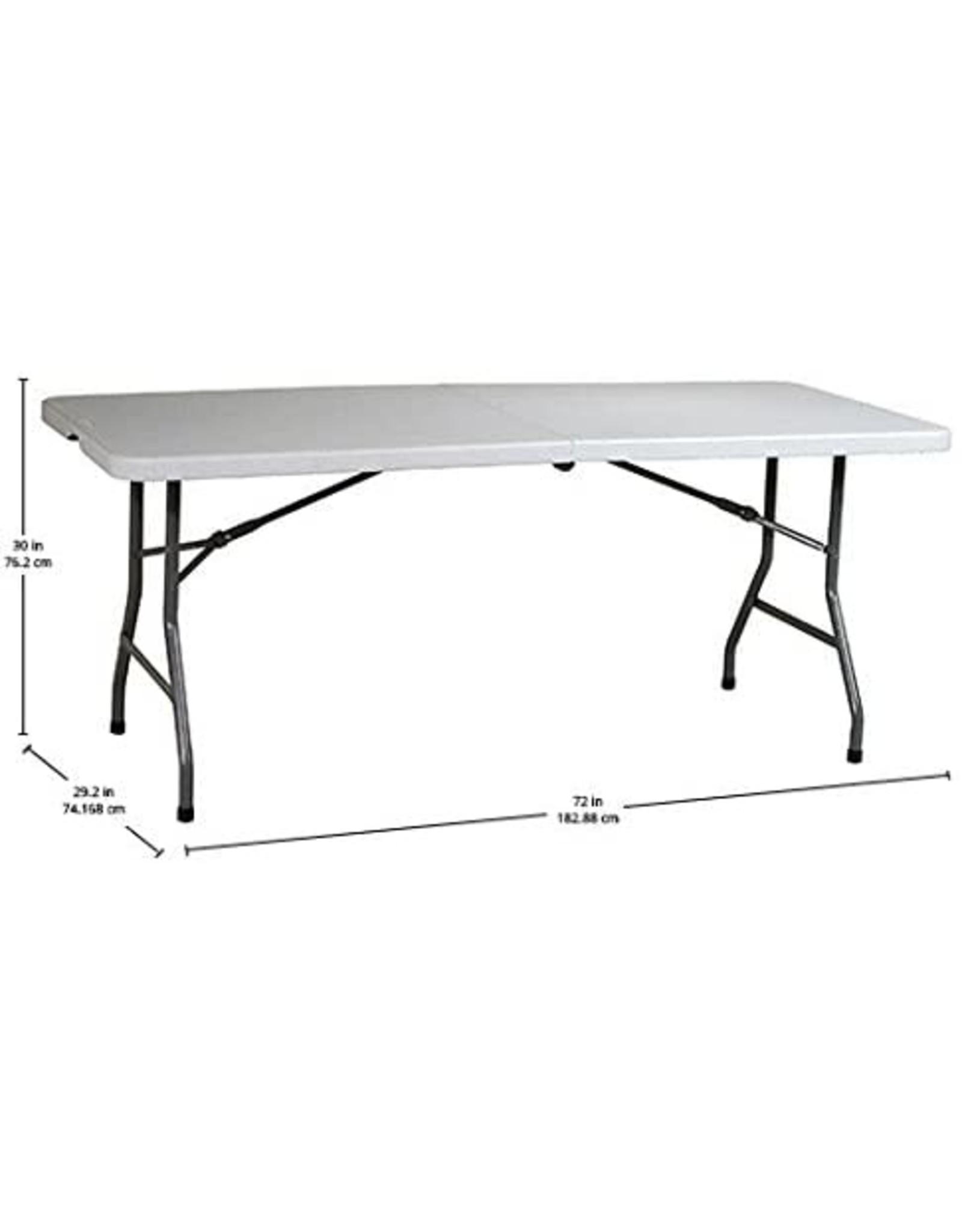Office Star Office Star Resin Multipurpose Rectangle Table, 6-Feet, Center Folding