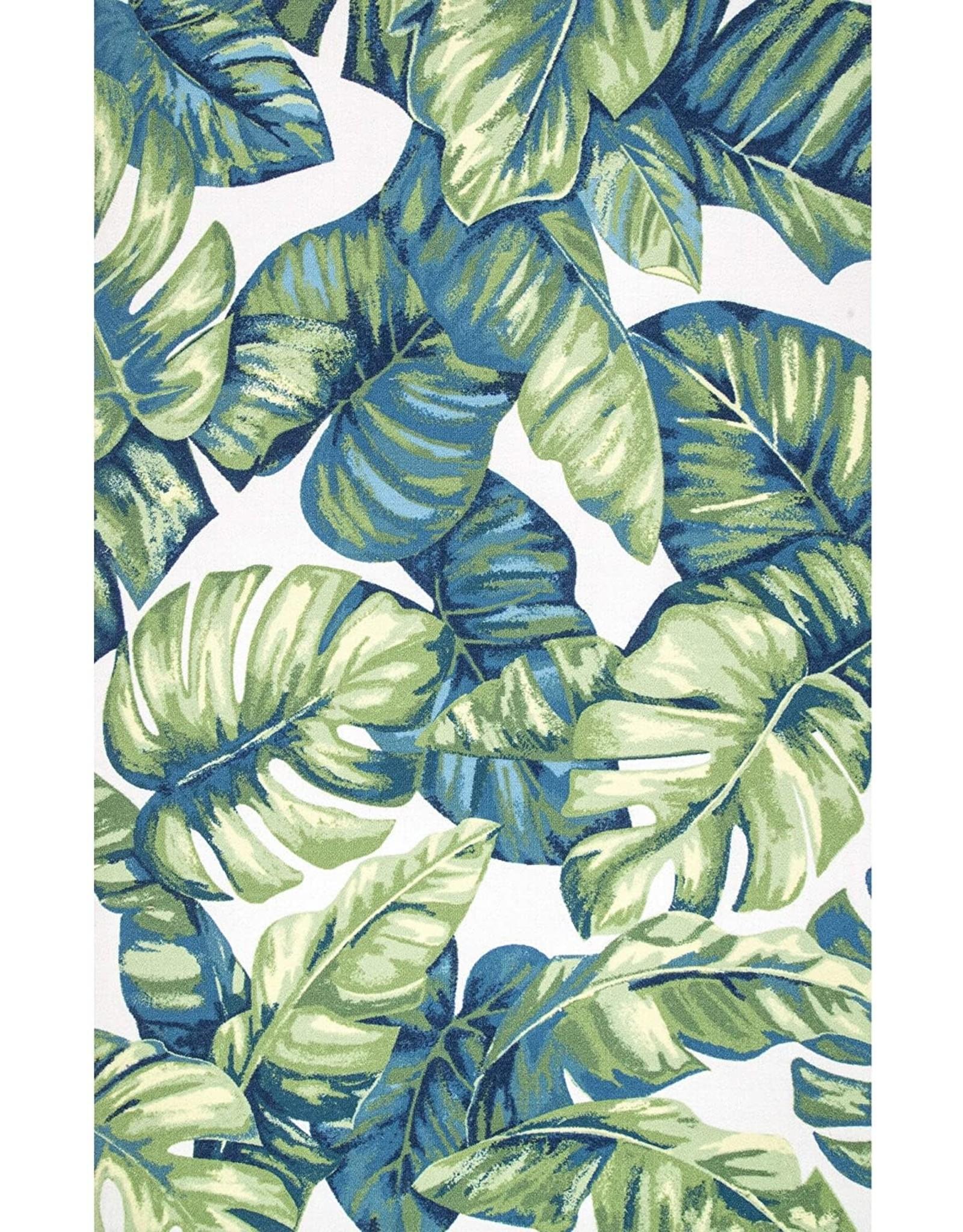 nuLOOM nuLOOM Lisa Floral Indoor/Outdoor Area Rug, 8' x 10' Oval, Multi