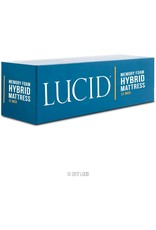 LUCID LUCID 12 Inch California King Hybrid Mattress - Bamboo Charcoal and Aloe Vera Infused Memory Foam - Motion Isolating Springs - CertiPUR-US Certified