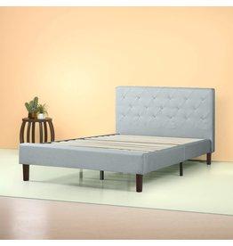 Zinus ZINUS Shalini Upholstered Platform Bed Frame / Mattress Foundation / Wood Slat Support / No Box Spring Needed / Easy Assembly, Sage Grey, Full