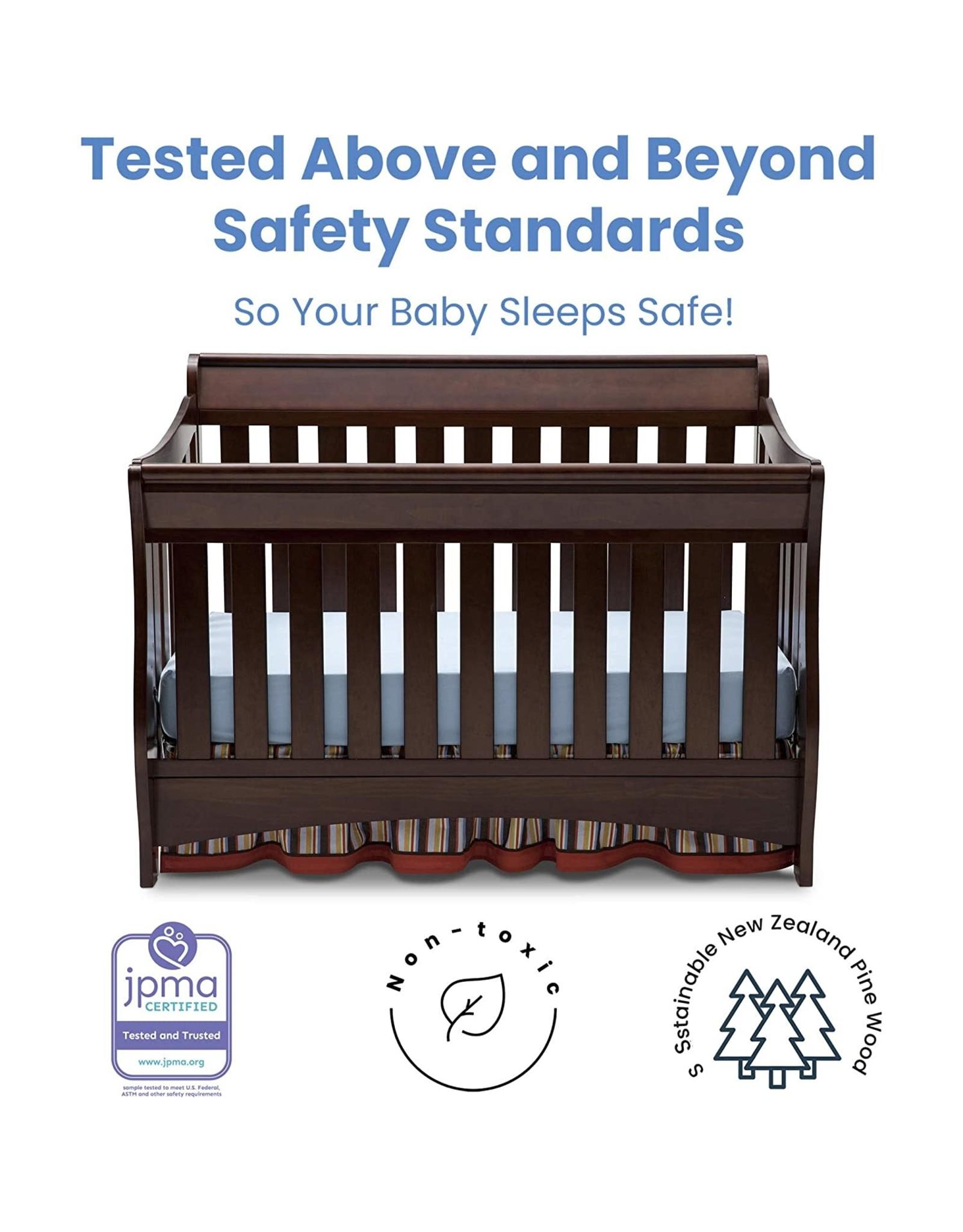 Delta Children Delta Children Bentley S Series 4-in-1 Convertible Baby Crib, Chocolate