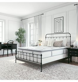 Classic Brands Classic Brands Mercer Cool Gel Memory Foam and Innerspring Hybrid 12-Inch Pillow Top Mattress  Bed-in-a-Box Queen