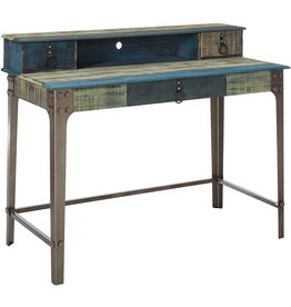Powell Powell Furniture Calypso Desk, Wood with Multi Color Accents,