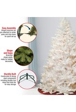 National Tree Company National Tree Company Pre-lit Artificial Christmas Tree  Includes Pre-strung White Lights and Stand  White With Silver Glitter  Winchester White Pine - 7 ft
