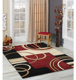 GLORY RUGS GLORY RUGS Area Rug Modern 8x10 Dark Red Soft Hand Carved Contemporary Floor Carpet with Premium Fluffy Texture for Indoor Living Dining Room and Bedroom Area