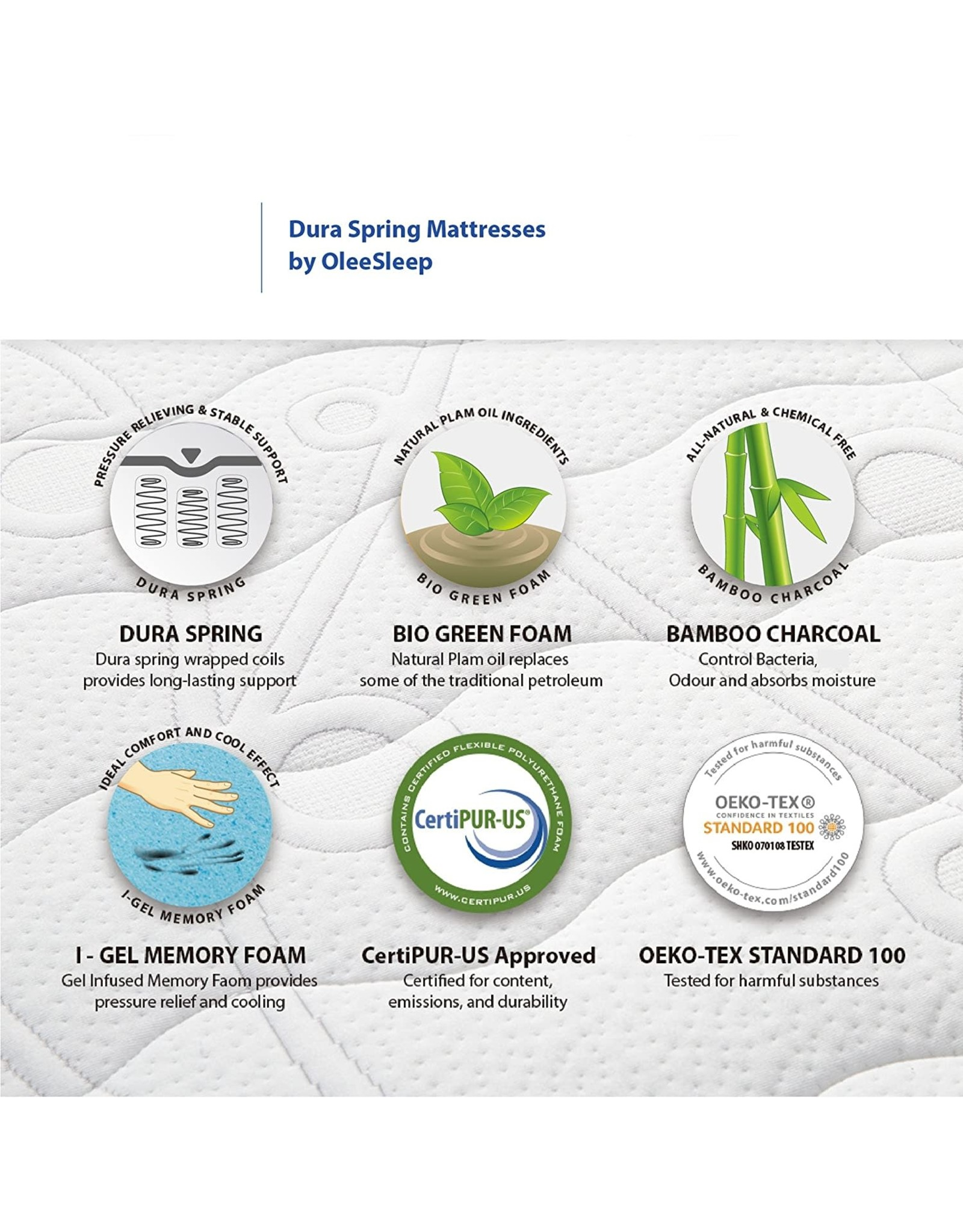 Olee Sleep Olee Sleep 13 inch Galaxy Hybrid Gel Infused Memory Foam and Pocket Spring Mattress (King)