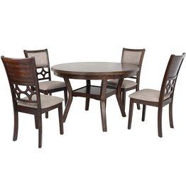 New Classic FURNITURE New Classic Furniture Mitchell 5-Piece Dining Table Set, Dark Cherry
