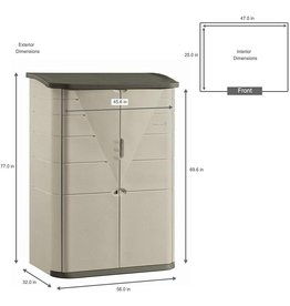 Rubbermaid Rubbermaid Vertical Resin Weather Resistant Outdoor Garden Storage Shed, Olive and Sandstone
