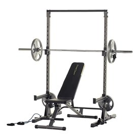 Fitness Reality Fitness Reality Multi-function, Adjustable Power Rack Squat Stand with J-Hooks, landmine, and weight storage attachment (2809)