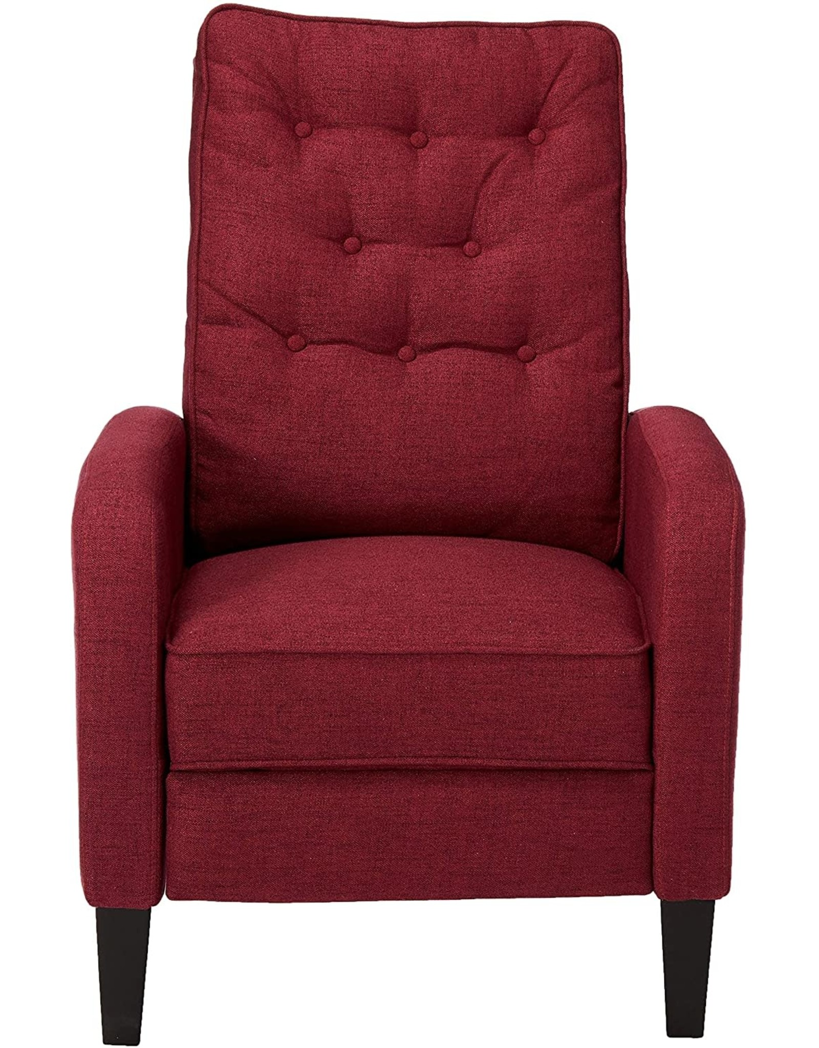Christopher Knight Christopher Knight Home Nievis Tufted Fabric Recliner, Deep Red / Dark Brown