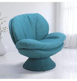 Mac Motion Mac Motion Relax-R Leisure Accent Chair, Round, Blue