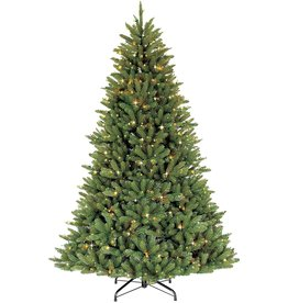 Puleo International Puleo International 6.5 Foot Pre-Lit Fraser Fir Artificial Christmas Tree with 500 UL-Listed Clear Lights, Green