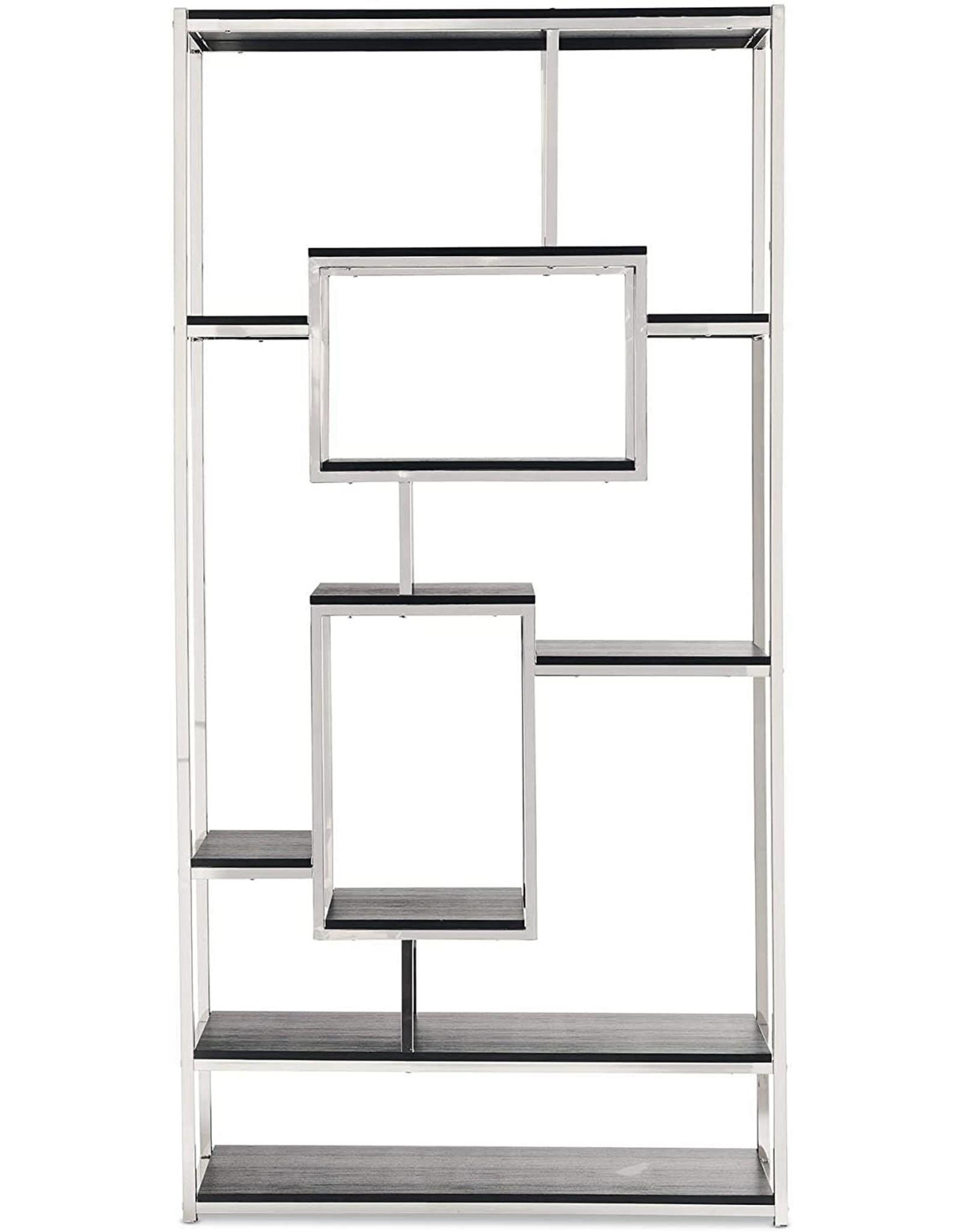 Abbey Avenue Abbey Avenue Carmela Vertical Bookshelf, Chrome