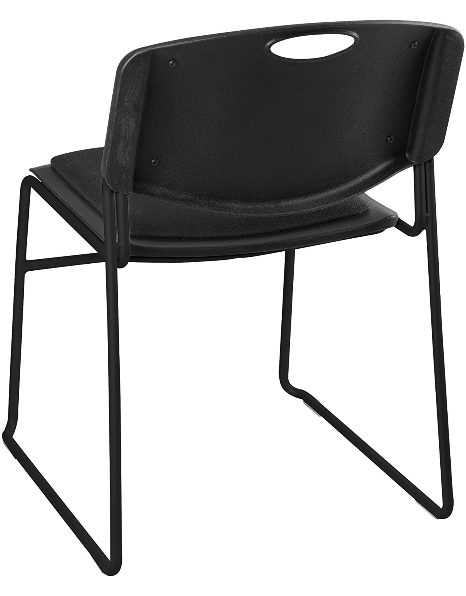 Norwood Commercial Furniture Norwood Commercial Furniture Heavy-Duty Plastic Stacking Chair w/Padded Seat and Back, Black, NOR-FEI1062-SO (Pack of 4)