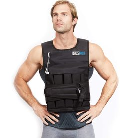 RUNFast RUNFast RUNmax 12Lbs-140Lbs Weighted Vest with Shoulder Pads, 60 lb, Black