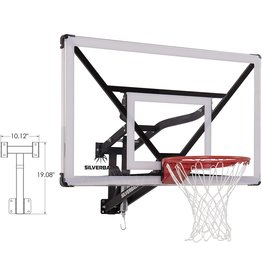 """Silverback Silverback NXT 54"""" Wall Mounted Adjustable-Height Basketball Hoop with QuickPlay Design"""