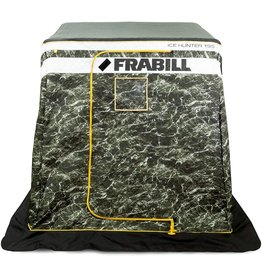 Frabill Ice Hunter Front Door 195 | Insulated Ice Fishing Flip Over Shelter with Boat Seats, FRBSH195
