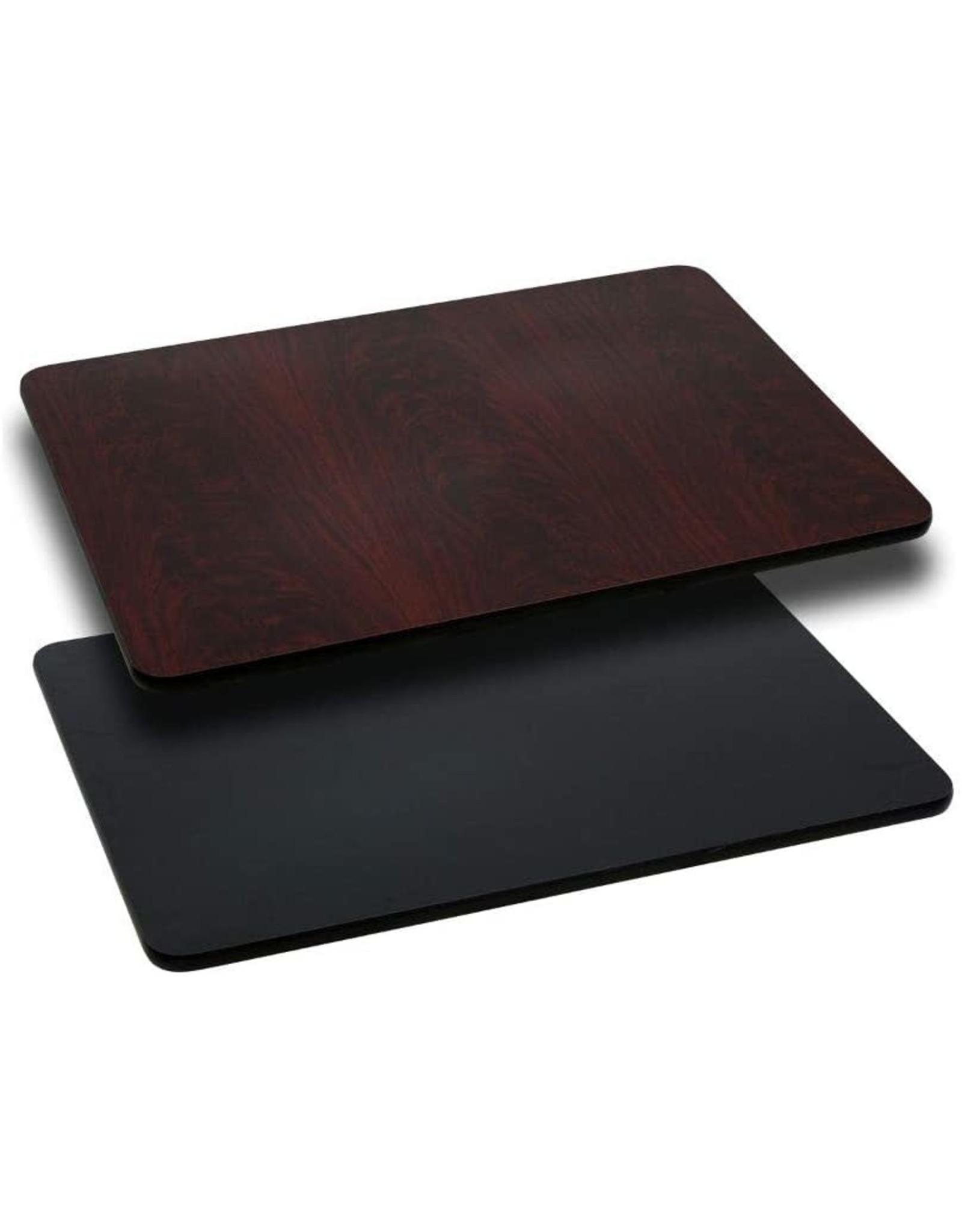 Flash Furniture Flash Furniture 24'' x 42'' Rectangular Table Top with Black or Mahogany Reversible Laminate Top