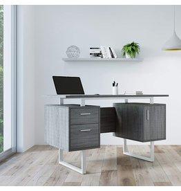 Techni Mobili Techni Mobili Modern Office Desk with Storage, Gray