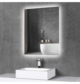 TokeShimi TokeShimi 36 x 28 Inch LED Backlit Mirror Bathroom Lighted Mirror Anti-Fog Wall Mounted Bath Mirror Dimmable Makeup Mirror with Lights (Horizontal/Vertical)