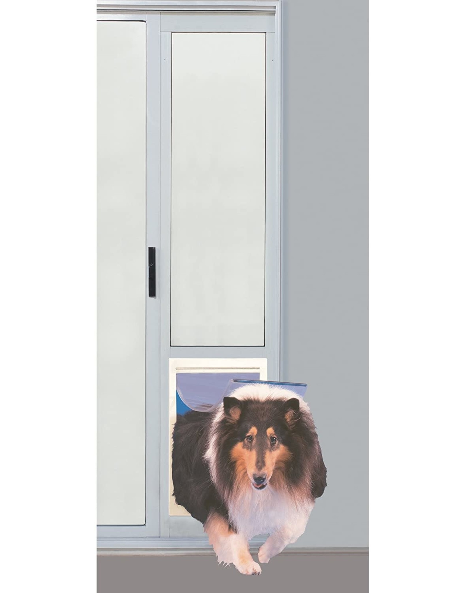 """Ideal Pet Products Fast Fit Pet Patio Door 96"""" Extra Large (White)"""