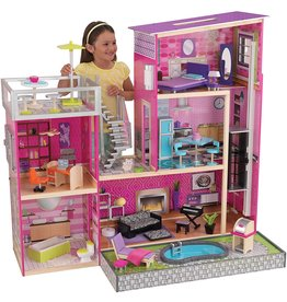 """KidKraft KidKraft Uptown Dollhouse with Furniture (49.25"""" x 25.25"""" x 46.25"""")"""